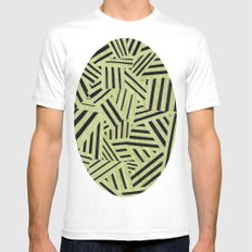 Yellow and black White MEDIUM Mens Fitted Tee