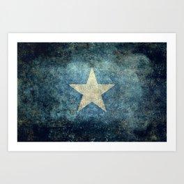 Somalian national flag - Vintage version Art Print