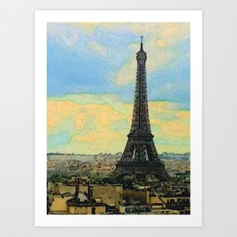 Watercolor Dream of Paris Art Print