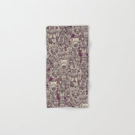 gargoyles purple Hand & Bath Towel