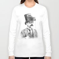 photographer Long Sleeve T-shirts featuring The Photographer by Eric Fan