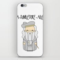 dumbledore iPhone & iPod Skins featuring A-DUMBLEDORE-ABLE.  by BeckiBoos