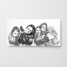 Lace of Ladies Metal Print