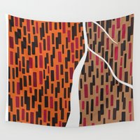 waterfall Wall Tapestries featuring Waterfall by Sandyshow