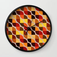 mandie manzano Wall Clocks featuring Ancestry by Diogo Verissimo