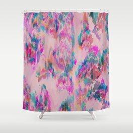 Ikat Glitch Shower Curtain