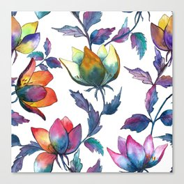 Magic fantasy flowers Canvas Print