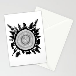 Into The Woods - Tree Ring Stationery Cards