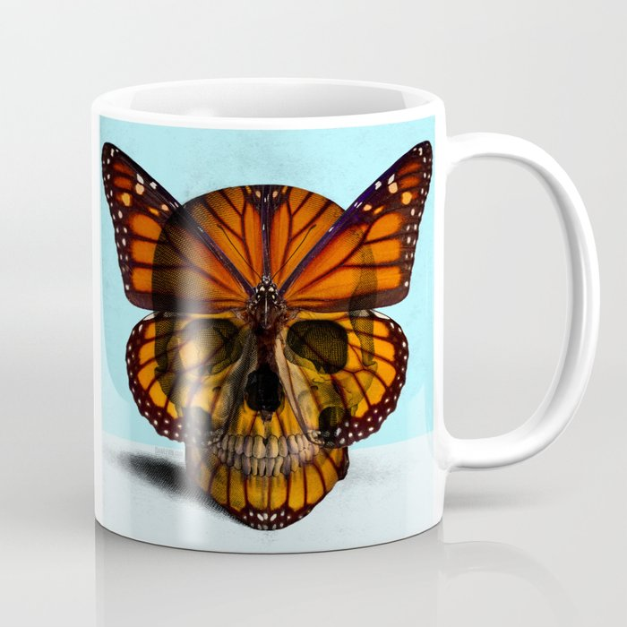 SKULL (MONARCH BUTTERFLY) Coffee Mug