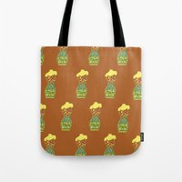 body Tote Bags featuring Body by Triple Six Illustration