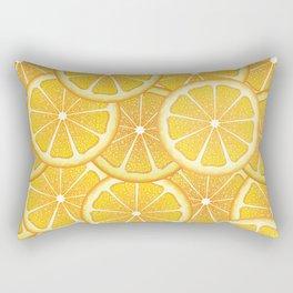 Juicy orange slices, citrus fruit slices Rectangular Pillow