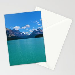"""Hall of Gods"" Maligne Lake in Jasper National Park, Canada Stationery Cards"
