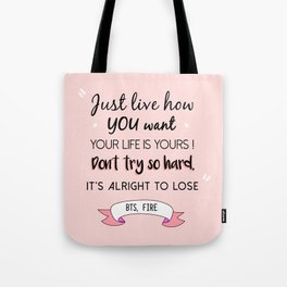 BTS Quote Tote Bag