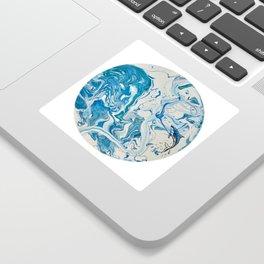 Blue Dolphin Planet Sticker