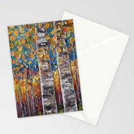 Autumn Aspen Colors Palette Knife Stationery Cards