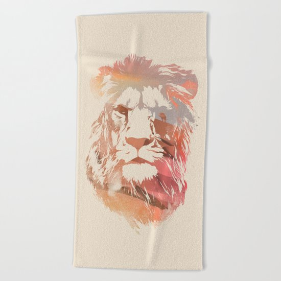 Desert Lion Beach Towel