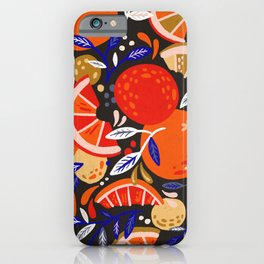 Fresh Citrus Mesh – Charcoal iPhone Case