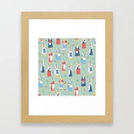 Dutch Girls Framed Art Print