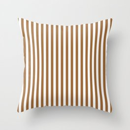 CVS0079 Brown and White Stripes Pattern Throw Pillow