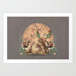 Deer Dandy Art Print