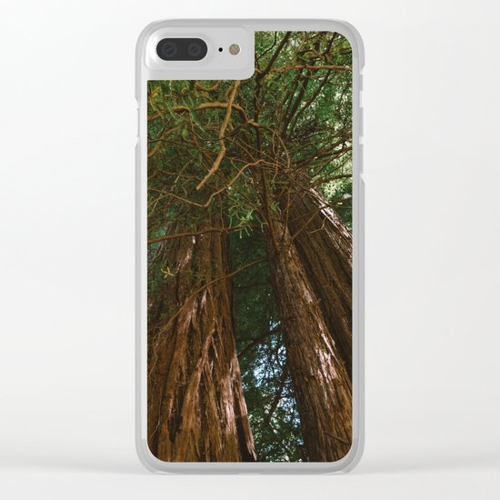 Redwood Forest VIII Clear iPhone Case