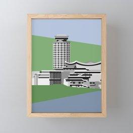 Soviet Modernism: Youth Palace in Yerevan, Armenia Framed Mini Art Print