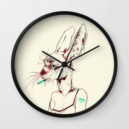 goopy rabbit Wall Clock