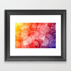 Party Bubbles Framed Art Print
