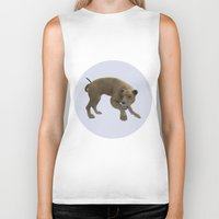 hunting Biker Tanks featuring Hunting Lioness by Design Windmill