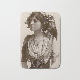 BEAUTIFUL GYPSY GIRL, Circa 1900 Bath Mat