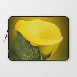 Calla Lily Bright Yellow Lives Bokeh Laptop Sleeve