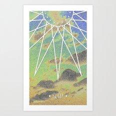 Solarized Burst Art Print