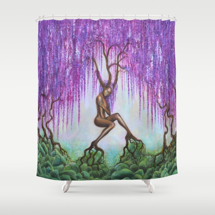Whispers Of Wisteria Shower Curtain By Ericawexler