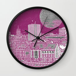 PURPLE AND THE CITY Wall Clock