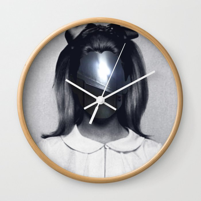 Fear collage Wall Clock