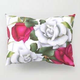 Red & White Roses Pillow Sham