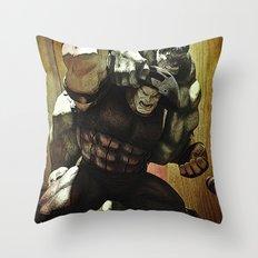 hulk v.s. juggernaut Throw Pillow