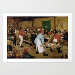 Peasant Wedding by Pieter Bruegel the Elder Art Print