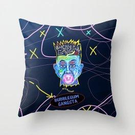 The Fresh Bubblegum Gangster Throw Pillow
