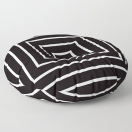 Black White Spiral Floor Pillow