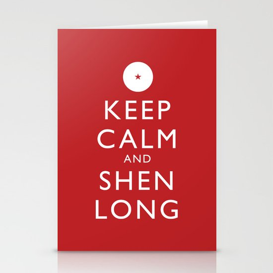 Keep Calm and Shen Long Stationery Cards