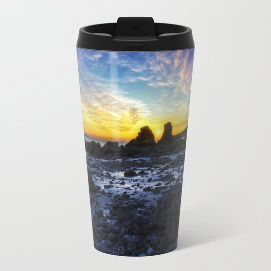 Ocean Sunset Metal Travel Mug
