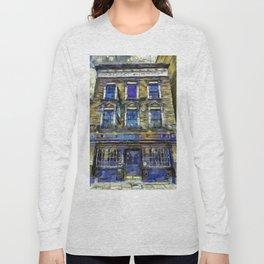 The Prospect Of Whitby Pub Art Long Sleeve T-shirt