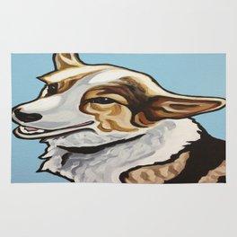 Corgi Portrait Rug