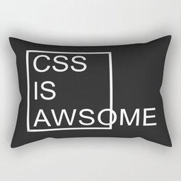 CSS is Awsome - Dark Rectangular Pillow
