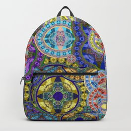 Deep Lush Mega Mandala in Gem Tones Backpack