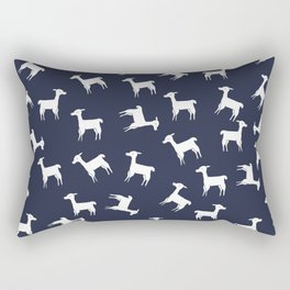 ALPACA PATTERN INDIGO - ALL ABOUT LLAMAS Rectangular Pillow