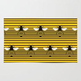 Bees Pentagram Rug