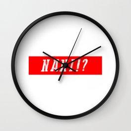 NANI!? RED VINTAGE Wall Clock
