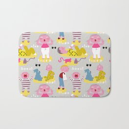 The angry fabric pattern Bath Mat
